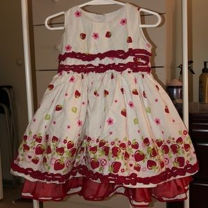 Red and white children's dress